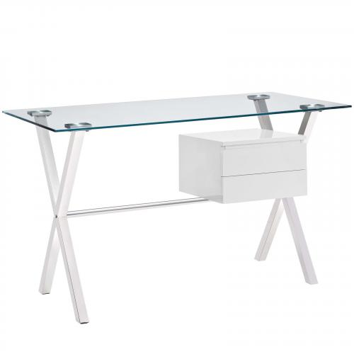 Stasis Office Desk in White