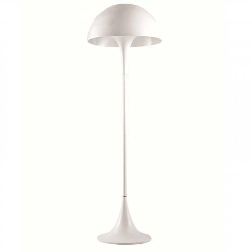Panton Aluminum Floor Lamp, White