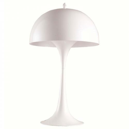 Panton Aluminum Table Lamp, White