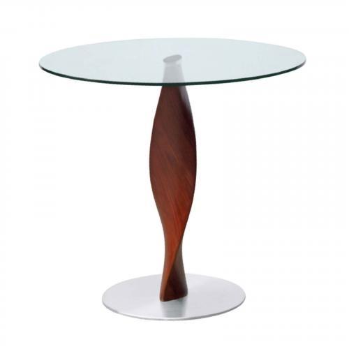 "Edge 36"" Fiberglass Dining Table, Clear"