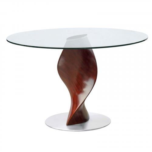 "Edge 48"" Fiberglass Dining Table, Clear"