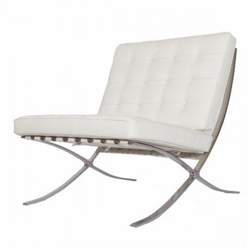 Barcelona Chair Replica White