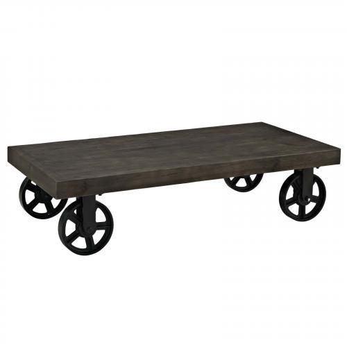 Garrison Wood Top Coffee Table