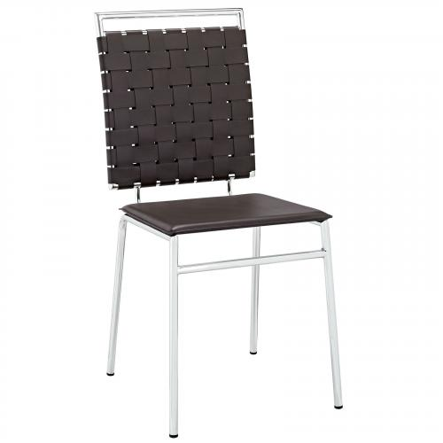 Fuse Dining Side Chair in Brown