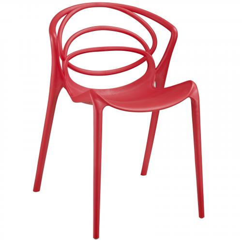 Locus Dining Side Chair in Red