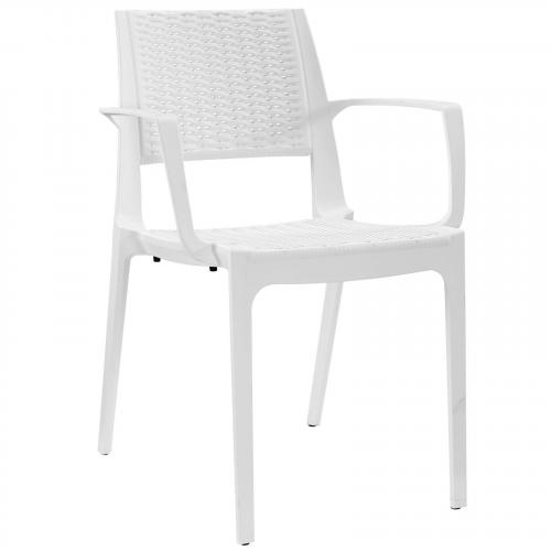 Astute Dining Armchair in White