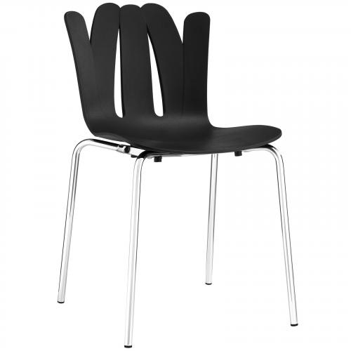 Flare Dining Side Chair in Black