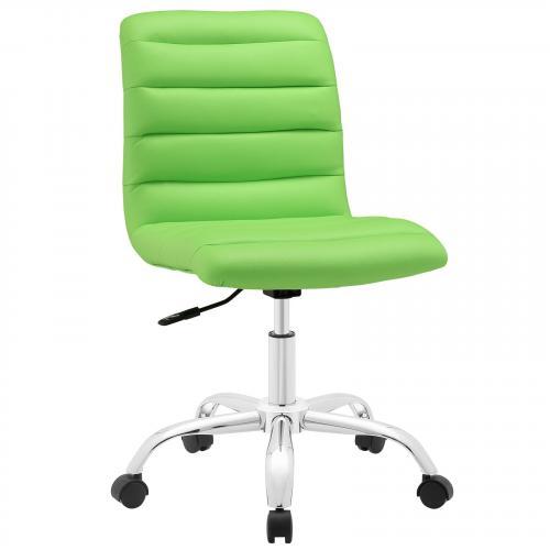 Ripple Armless Mid Back Vinyl Office Chair
