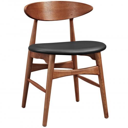 Ebee Dining Chair in Walnut Black