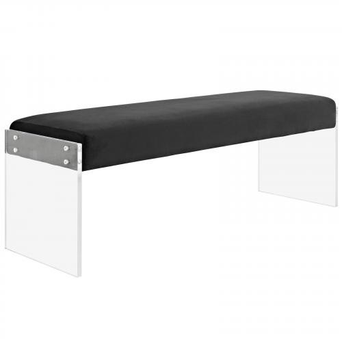 Roam Velvet Bench