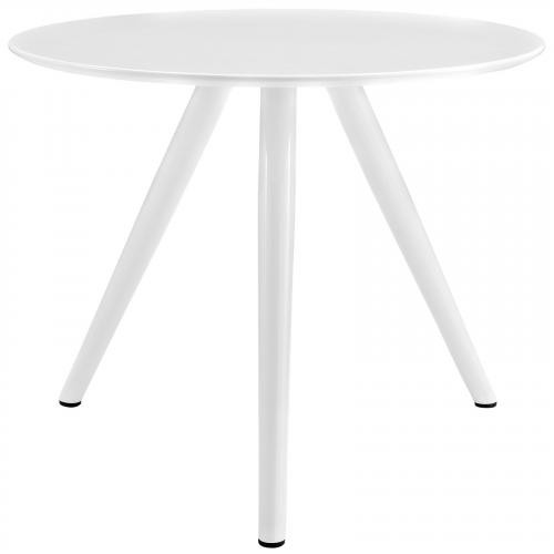 """Lippa 36"""" Round Wood Top Dining Table with Tripod Base in White"""