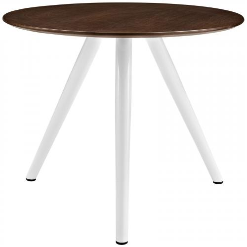 "Lippa 36"" Round Walnut Dining Table with Tripod Base in Walnut"
