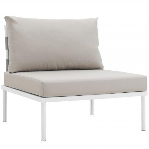 Harmony Armless Outdoor Patio Aluminum Chair