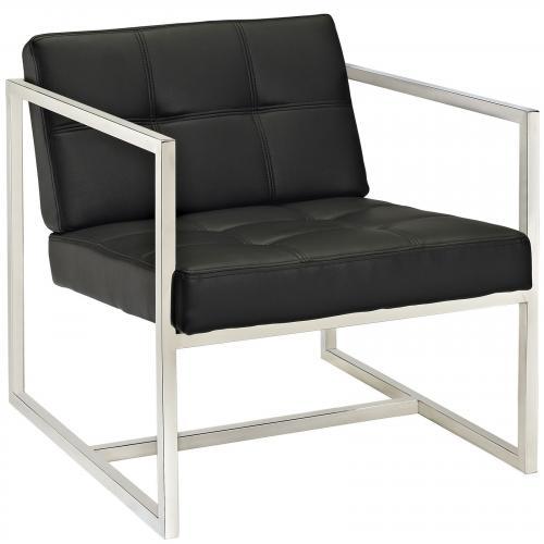 Hover Upholstered Vinyl Lounge Chair