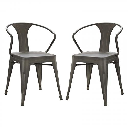 Promenade Dining Chair Set of 2 in Brown