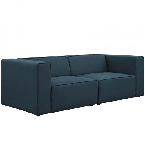 Mingle 2 Piece Upholstered Fabric Sectional Sofa Set