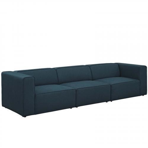 Mingle 3 Piece Upholstered Fabric Sectional Sofa Set