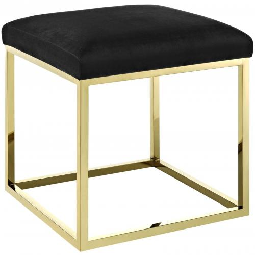 Anticipate Ottoman with Gold Stainless Steel Base