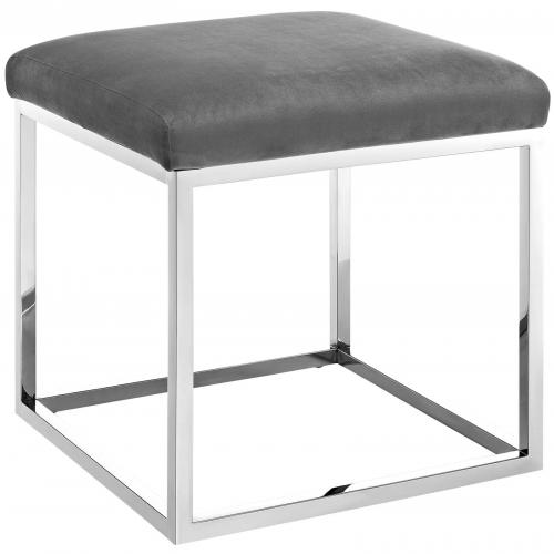 Anticipate Ottoman with Stainless Steel Base