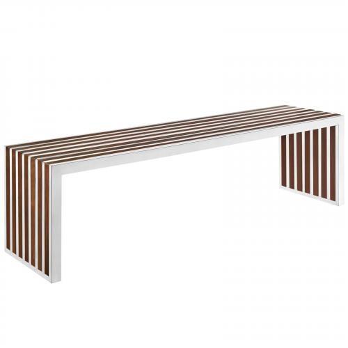 Gridiron Large Wood Inlay Bench