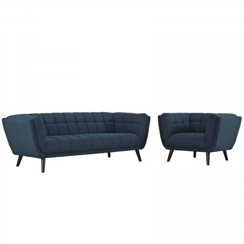 Bestow 2 Piece Upholstered Fabric Sofa and Armchair Set