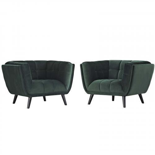 Bestow 2 Piece Velvet Armchair Set