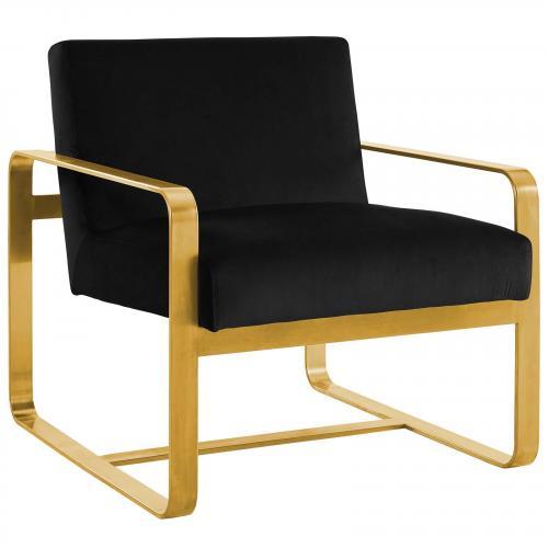 Astute Upholstered Velvet Armchair