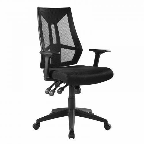Extol Mesh Office Chair in Black