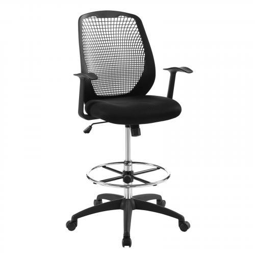 Intrepid Mesh Drafting Chair in Black