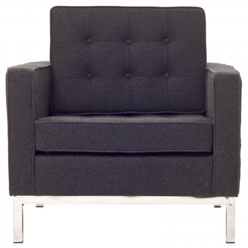 Florence Knoll Style Arm Chair - Wool