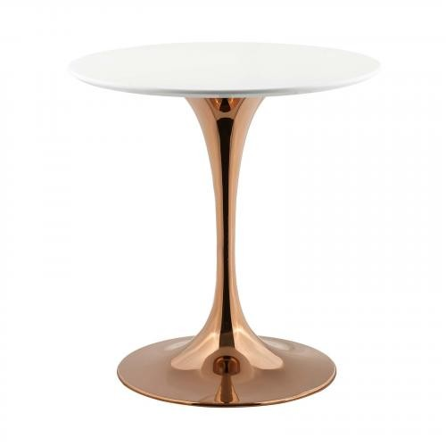 "Lippa 28"" Round Dining Table in Rose White"