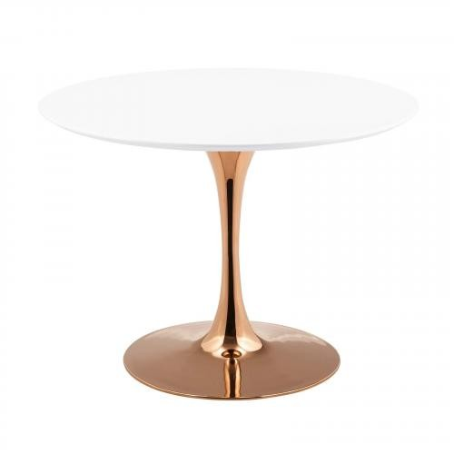 "Lippa 40"" Round Dining Table in Rose White"