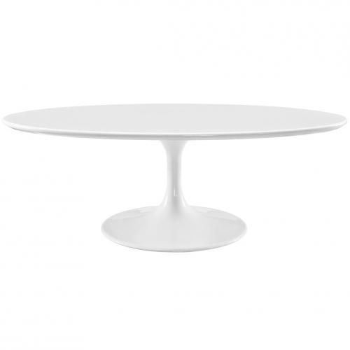 "Lippa 48"" Oval-Shaped Wood Top Coffee Table"