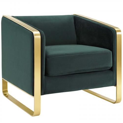 Visualize Accent Club Lounge Performance Velvet Armchair