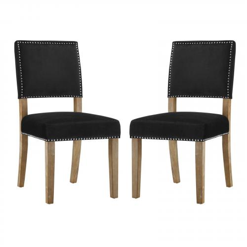Oblige Dining Chair Wood Set of 2
