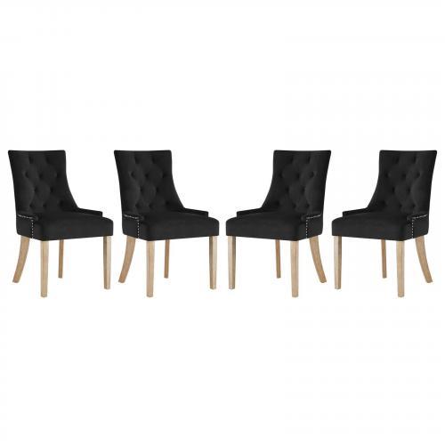 Pose Dining Chair Velvet Set of 4