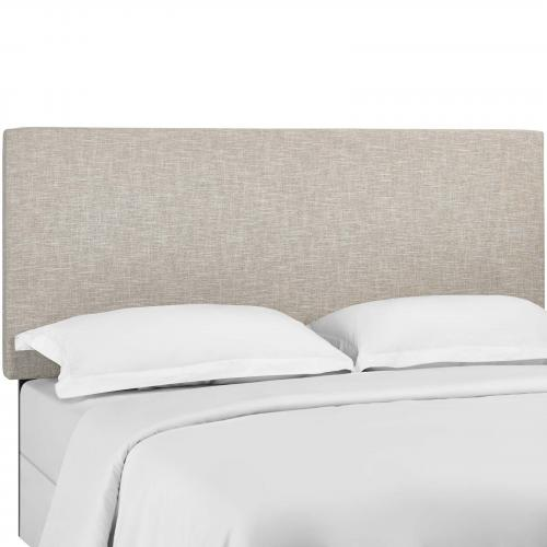 Taylor King and California King Upholstered Linen Fabric Headboard
