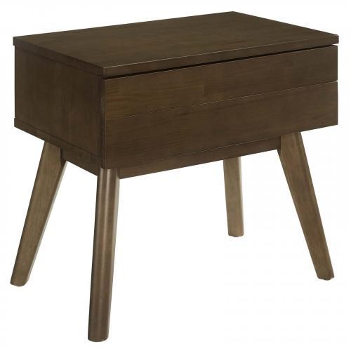 Everly Wood Nightstand in Walnut