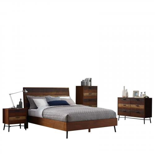 Arwen 5 Piece Queen Bedroom Set in Walnut