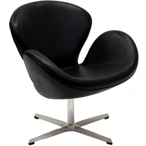 Arne Jacobsen Style Swan Chair - Leather