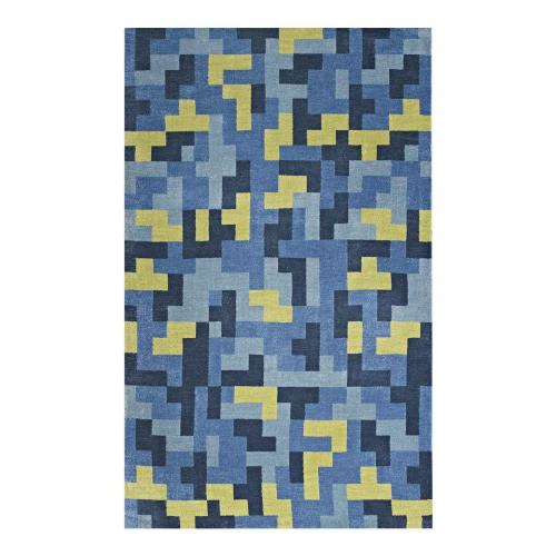 Andela Interlocking Block Mosaic 5x8 Area Rug