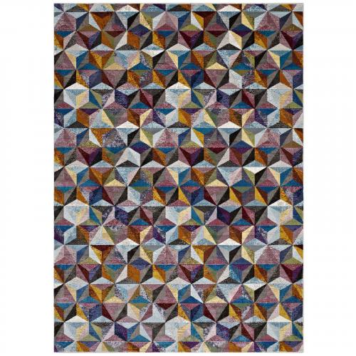 Arisa Geometric Hexagon Mosaic 8x10 Area Rug