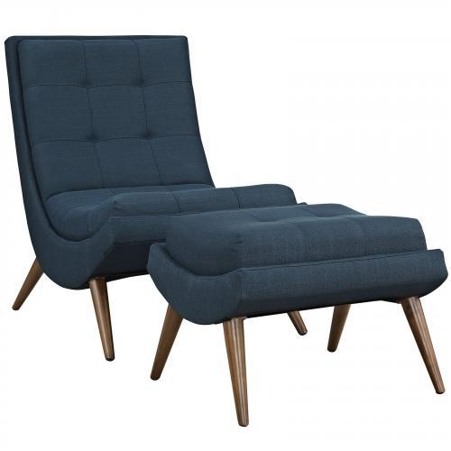 Ramp Fabric Lounge Chair Set
