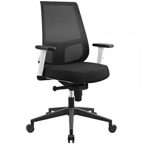Pump White Frame Office Chair