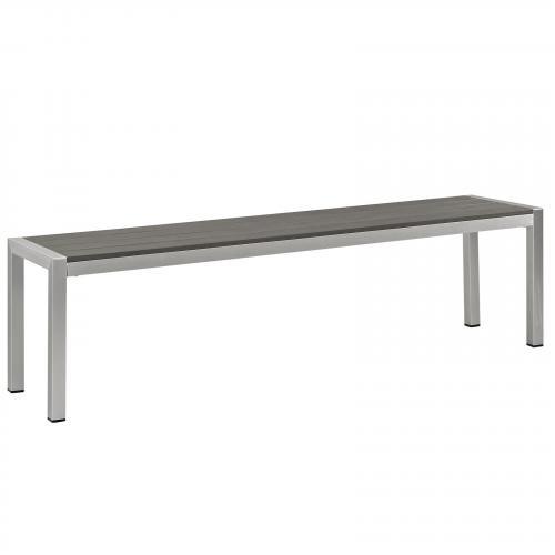 Shore Outdoor Patio Aluminum Bench