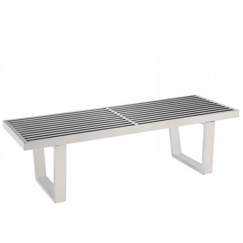 Sauna 4' Stainless Steel Bench