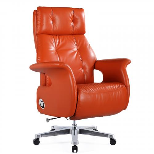 Malina Executive Office Chair Recliner in Orange