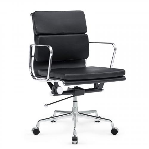 Soft Conference Office Chair Mid Back in Black