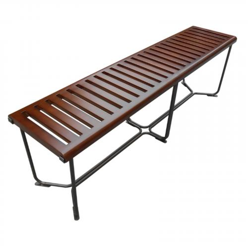 "Solid Bench 60"" in Brown"