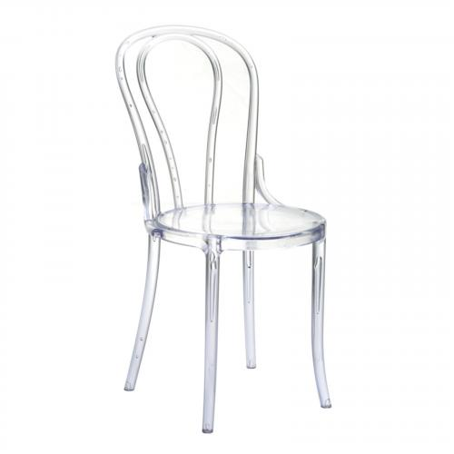 Spin Clear Chair in Clear